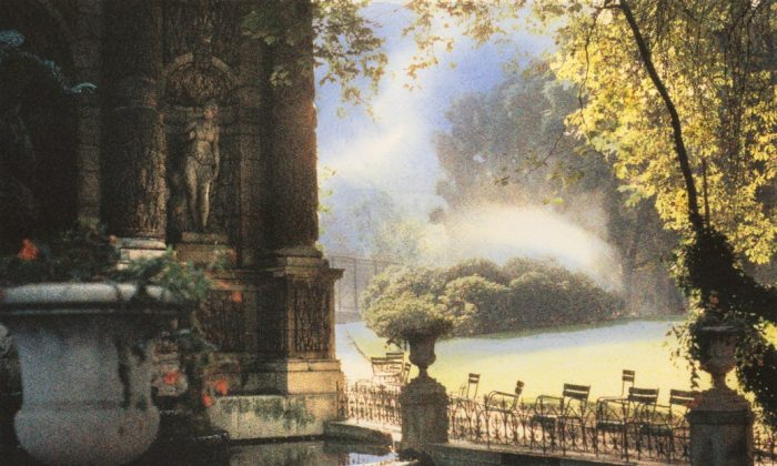 """Early Morning, Jardins du Luxembourg, Paris"" is one of Jennifer Dickson's works displayed in the Giochi d'Acqua exhibition. (Courtesy of Wallack Galleries)"