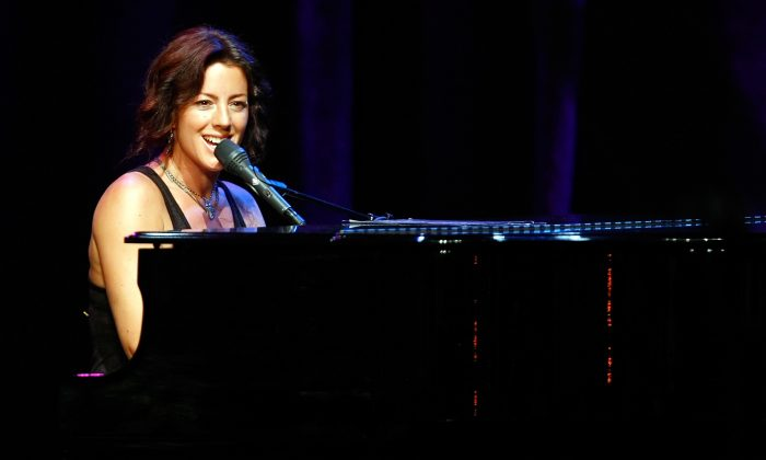 Recording artist Sarah McLachlan performs during a campaign rally for U.S. Senate Majority Leader Harry Reid (D-NV) at the Aria Resort & Casino at CityCenter in Las Vegas, Nev., July 8, 2010. McLachlan is among the artists whose albums made it to CBC's list of the top 50 Canadian albums of the '90s. (Ethan Miller/Getty Images)