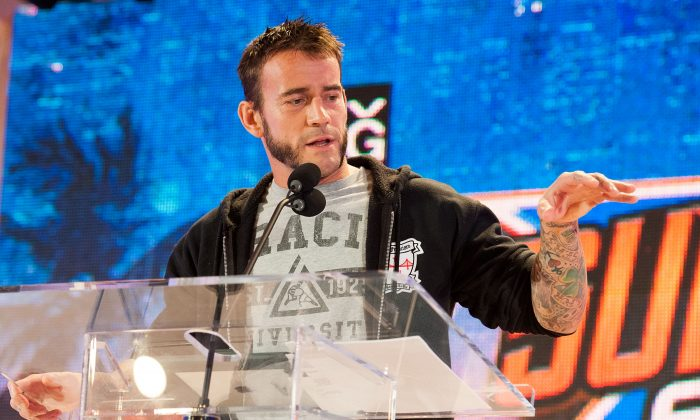 CM Punk attends WWE SummerSlam Press Conference in 2013. (Valerie Macon/Getty Images)