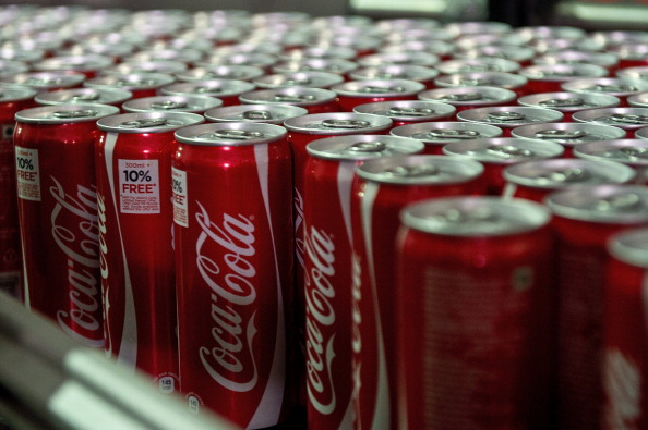 Coca Cola cans at a bottling plant in India, Aug. 22, 2013. (PRAKASH SINGH/AFP/Getty Images)
