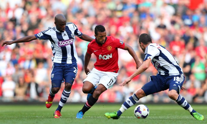 MANCHESTER, ENGLAND - SEPTEMBER 28: of Manchester United of West Bromwich Albion during the Barclays Premier League match between Manchester United and West Bromwich Albion at Old Trafford on Sep. 28, 2013 in Manchester, England. (Photo by Alex Livesey/Getty Images)