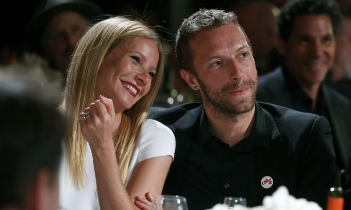 Gwyneth Paltrow with Coldplay singer Chris Martin in Beverly Hills, Calif. (Colin Young-Wolff /Invision/AP, File)