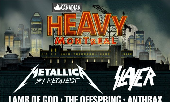 2014 Heavy Montreal Lineup. Photo Credit: Official Heavy Montreal Website