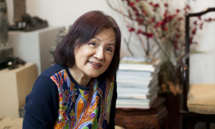 Collector Dora Wong in her Upper East Side home, Feb. 20. (Samira Bouaou/Epoch Times)