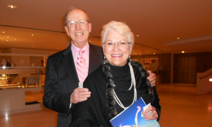 Mr. and Mrs. Jack Ellis had a wonderful time seeing Shen Yun Performing Arts at the the Muriel Kauffman Theatre on March 28, 2014. (Fany Qiu/Epoch Times)