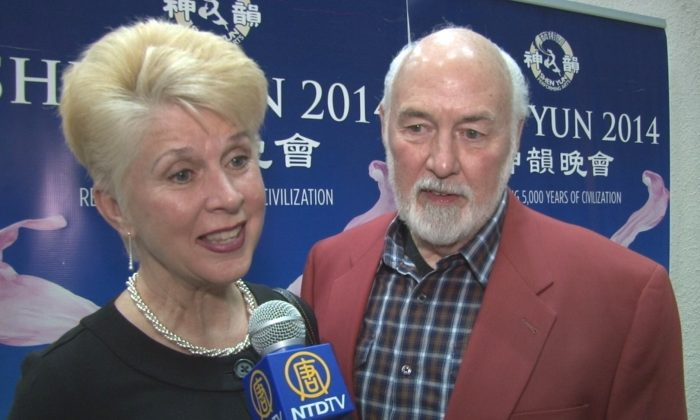 Mary and Ron Safko enjoy Shen Yun Performing Arts at the at Koger Center for the Arts. (Courtesy of NTD Television)