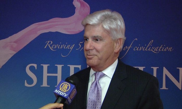 Vince Orza at the Shen Yun Performing Arts show at the Civic Center Music Hall, on March 25, 2014. (Courtesy of NTD Television)