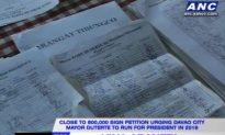 Duterte for President? Around 800,000 Sign Petition for Davao City Mayor Presidential Run