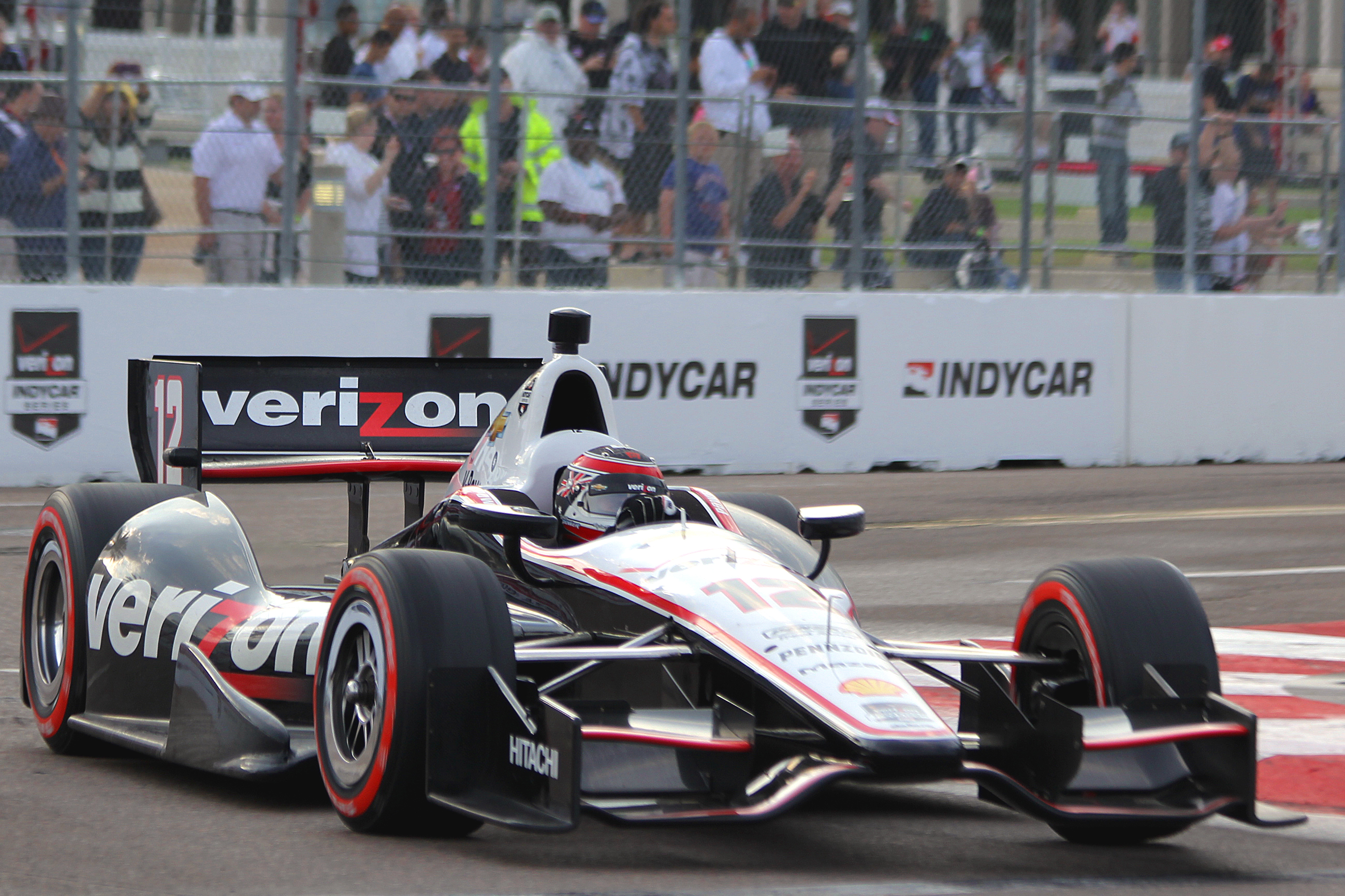 No pole for Power this year: Three-time St. Pete pole winner Will Power qualified fourth in the Chevy-powered #12 Verizon Penske. (Chris Jasurek/Epoch Times)