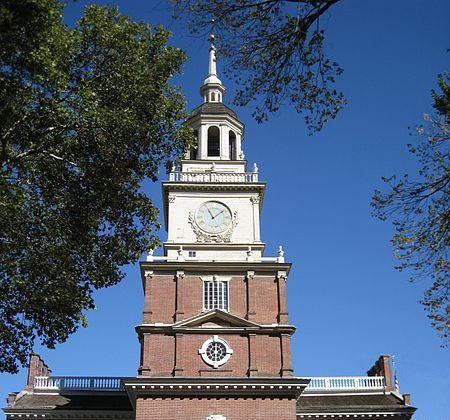 Independence Hall in Philadelphia saw the signing of the Declaration of Independence and the drafting of the United States Constitution. Elementary school tours may have to be cancelled if about 1.2 degrees of warming submerges the site.