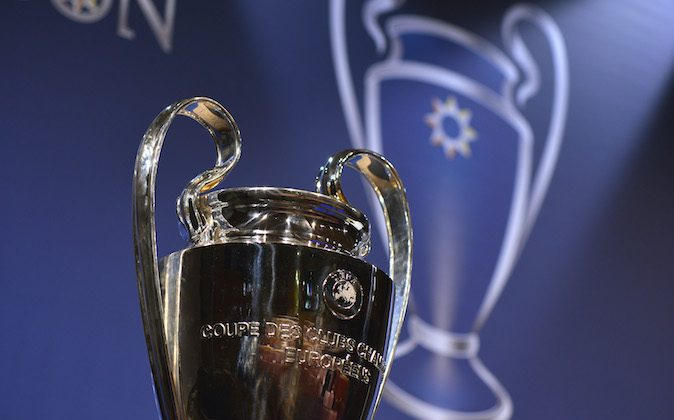 The UEFA Champions League trophy is displayed prior to the UEFA Champions League 2013/14 season quarter-finals draw at the UEFA headquarters, The House of European Football, on March 21, 2014 in Nyon, Switzerland. (Photo by Harold Cunningham/Getty Images for UEFA)