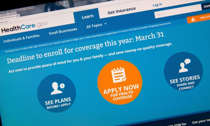This image taken March 31, 2014 in Washington, DC shows the home page for the HealthCare.gov internet site. Today is the deadline day for uninsured Americans to sign up for coverage through US President Barack Obama's signature healthcare law, the Affordable Care Act. (Karen Bleier/AFP/Getty Images)
