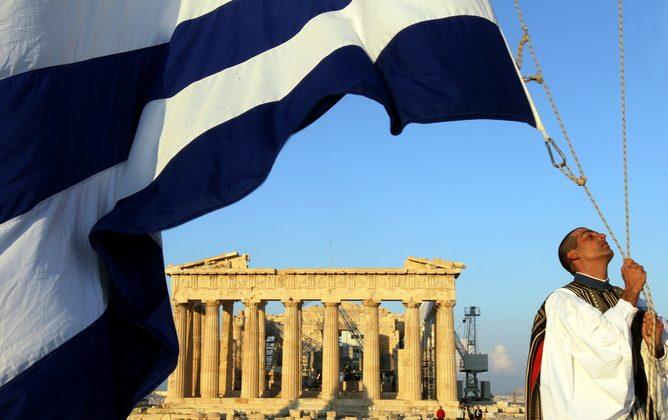 Greece bookends a sorry history of financial woe. (Orestis Panagiotou/EPA)