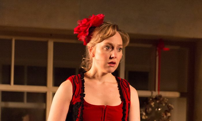 Hattie Morahan, appearing as Nora Helmer, seems to recreate the role with her thrilling performance. (Richard Termine)