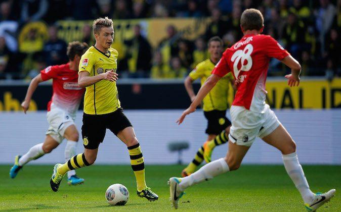 of Borussia Dortmund of Freiburg during the Bundesliga match between Borussia Dortmund and SC Freiburg at Signal Iduna Park on Sept. 28, 2013 in Dortmund, Germany.