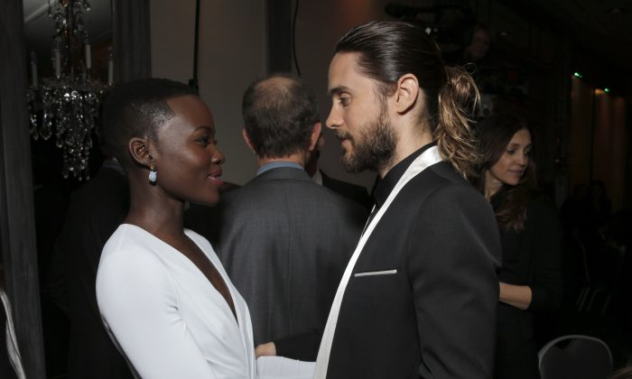 Lupita Nyong'o and Jared Leto attend the 39th Annual Los Angeles Film Critics Association Awards at InterContinental Hotel on January 11, 2014 in Century City, California.(Todd Williamson /Invision/AP)