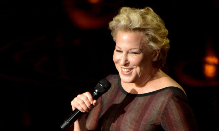 Bette Midler performs during the Oscars at the Dolby Theatre in Los Angeles on March 2, 2014. (John Shearer/Invision/AP)