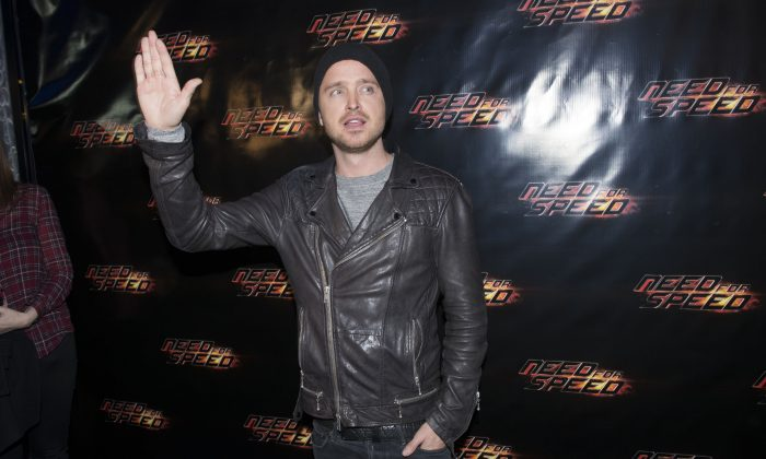 "Actor Aaron Paul attends a special advance screening of ""Need For Speed"" at the Scotiabank Theatre on Tuesday, Feb. 4, 2014 in Toronto, Canada. (Photo by Arthur Mola/Invision/AP)"