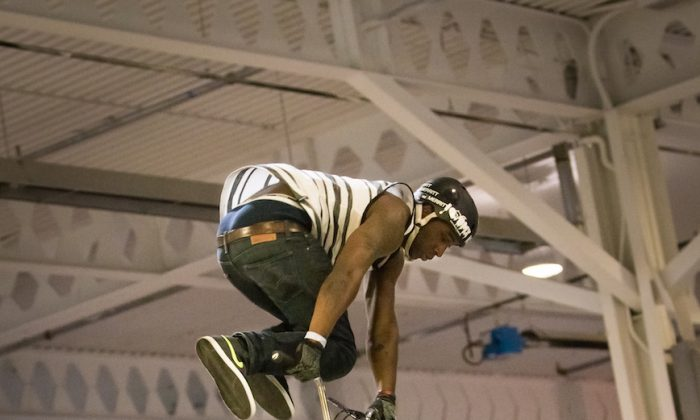 The BMX event was a draw for those who were seeking thrills. Andre Postell whips it! (DQC Photo)