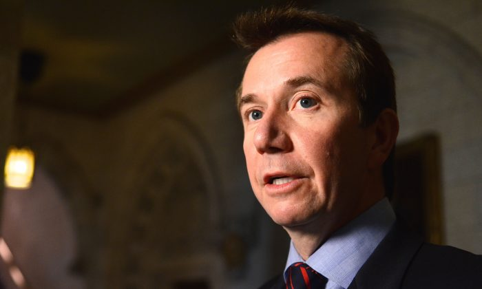Liberal finance critic Scott Brison criticized the government after Finance minister Jim Flaherty voiced doubts about income splitting, a policy the Liberals themselves supported in the past but now criticize. (Matthew Little/Epoch Times)