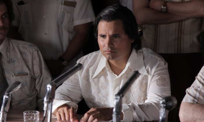 "Michael Peña as Cesar Chavez in ""Cesar Chavez."" (Pantelion Films 2013)"