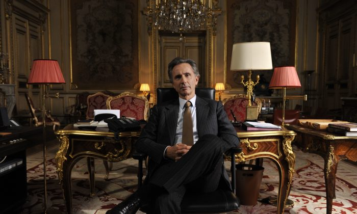 "Alexandre Taillard de Worms (Thierry Lhermitte) in Bertrand Tavernier's ""The French Minister."" (Courtesy of Sundance Selects)"