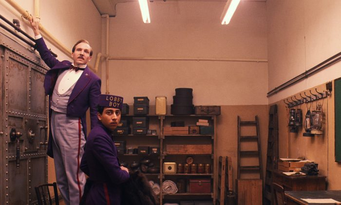 "Ralph Fiennes (L) and Tony Revolori (R) in ""The Grand Budapest Hotel."" (AP Photo/Fox Searchlight)"