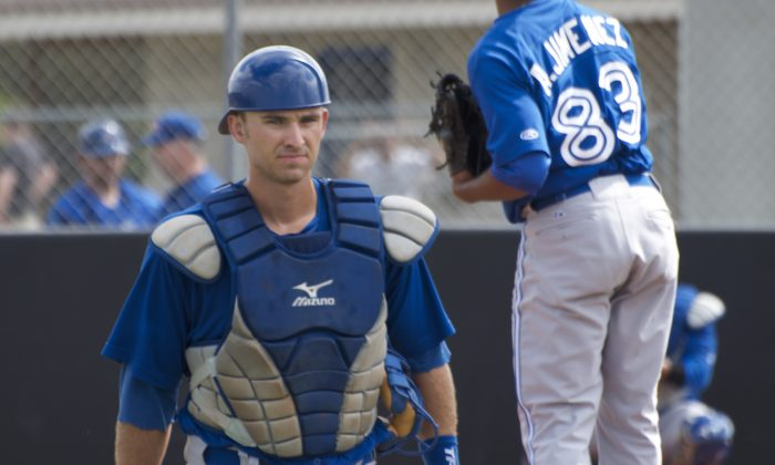 Canadian catcher Mike Reeves is making his way through the Toronto Blue Jays minor league system. (Joe Pack)