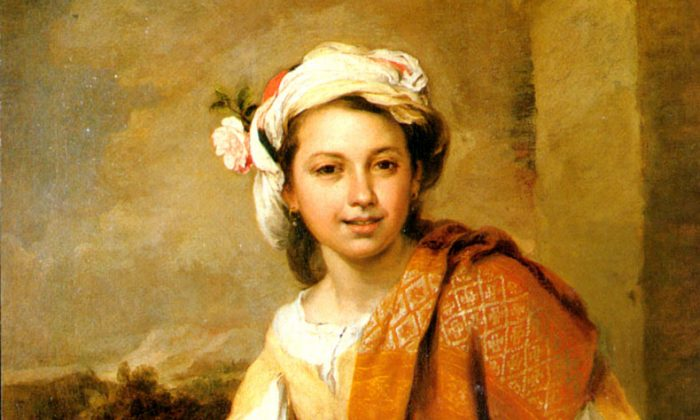 "How do you view beauty?— Bartolome Esteban Murillo (1617-1682) ""The Flower Girl,"" oil on canvas,47.76 inches by 38.86 inches, Private collection. (artrenewal.org)"