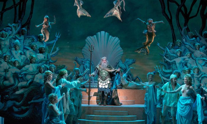 Placido Domingo as Neptune (photo by Ken Howard)