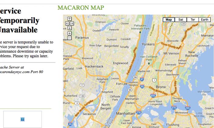A screen shot of the macarondaynyc.com website.