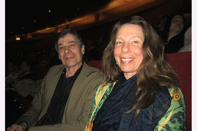 College instructors Timothy Hellner and Kari Nolan appreciate the artistic endeavor of Shen Yun Performing Arts. (Joan Wang/Epoch Times)