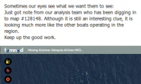 Tomnod Checks Out Map Courtney Love Indicated Might be Evidence in Flight MH370 Search