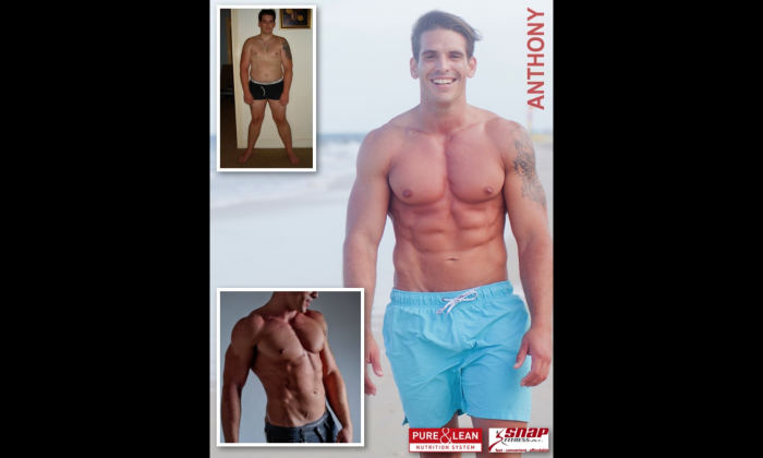 Anthony Noud before and after making exercise a daily habit. (Courtesy of Anthony Noud)