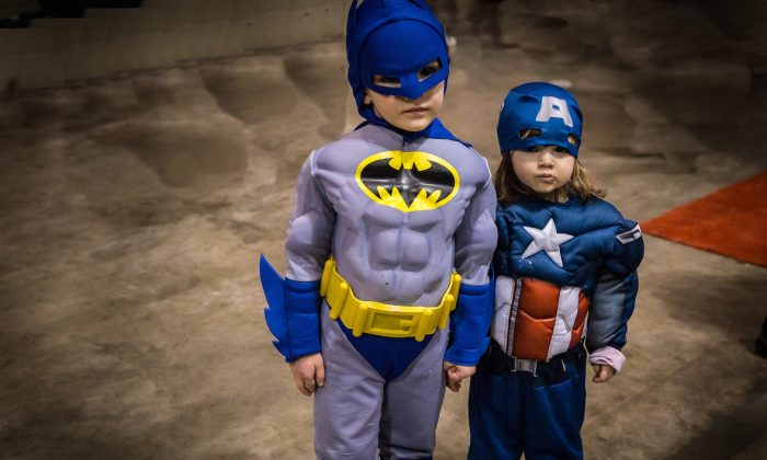The future is safe in the hands of our heroes Batman and Captain America!!! (DQC Photo)