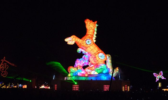 2014 marks the Year of the Horse in the Chinese zodiac, and was a centerpiece in the LED light display at Taiwan's largest display celebrating Chinese New Year. (Manos Angelakis)