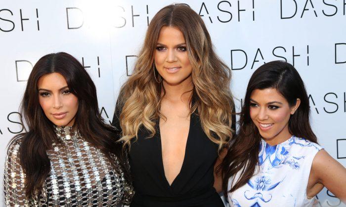 From left, Kim, Khloe and Kourtney Kardashians in Miami Beach, Fla. (Omar Vega/Invision/AP)