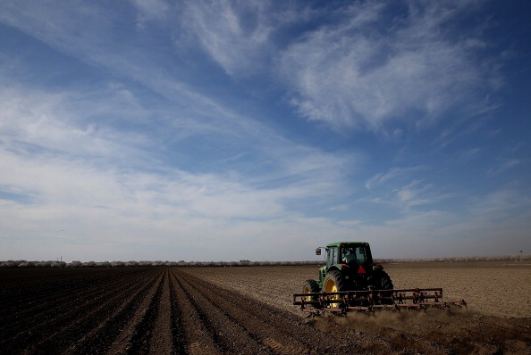 Tractor plowing a field (Photo by Justin Sullivan/Getty Images)