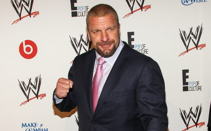 WWE Superstar Paul Levesque (AKA Triple H) arrives at the Superstars of Hope honors Make A Wish Foundation event at The Beverly Hills Hotel on Thursday, August 15, 2013 in Beverly Hills, Calif. (Photo by Paul A. Hebert/Invision/AP)