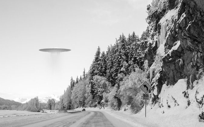 An illustration of an unidentified flying object (UFO). (Shutterstock*)