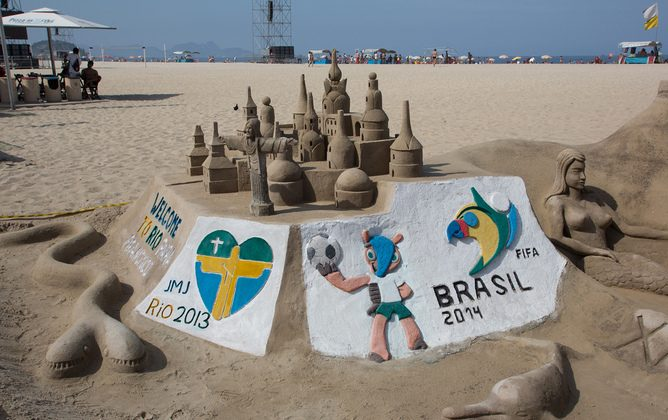 Hopes are high for Brazil as it prepares to host the World Cup and hold an election, but real economic change is unlikely to flow. (BostonCatholic/Flickr, CC BY-ND)