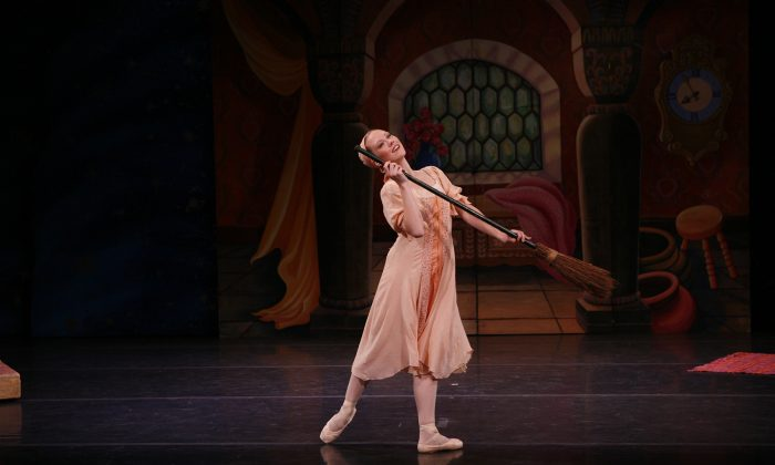 Elena Zahlmann as Cinderella. Rie Ogura performed on the date of this review. (Courtesy of Michelle Tannic Communications/Richard Termine)