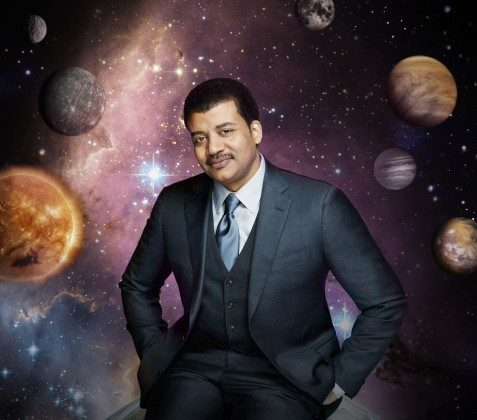 """This photo released by Fox shows Neil deGrasse Tyson, the astrophysicist who hosts the television show, """"Cosmos: A Spacetime Odyssey."""" (AP Photo/Fox, Patrick Eccelsine)"""
