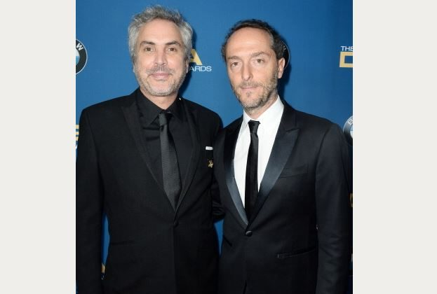 Director Alfonso Cuaron (L) and cinematographer Emmanuel Lubezki. (Frazer Harrison/Getty Images for DGA)