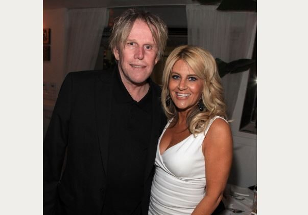 Dawn DaLuise in a 2010 file photo with actor Gary Busey. (Angela Weiss/Getty Images)