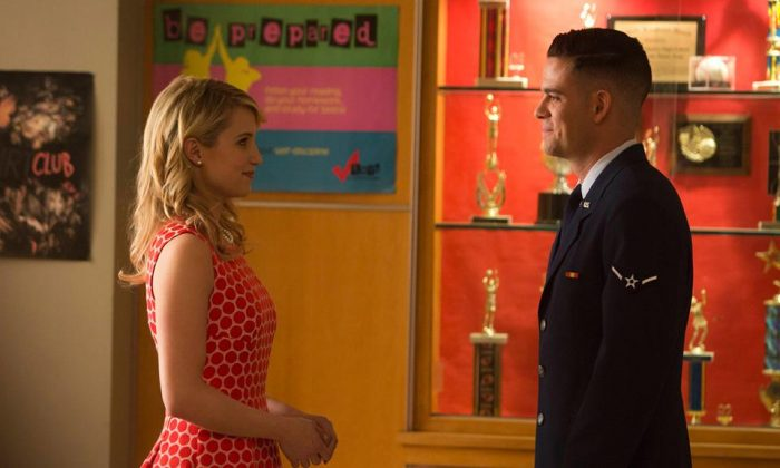 "Quinn and Puck are among the characters returning for the special 100th episode of ""Glee."" (Fox)"