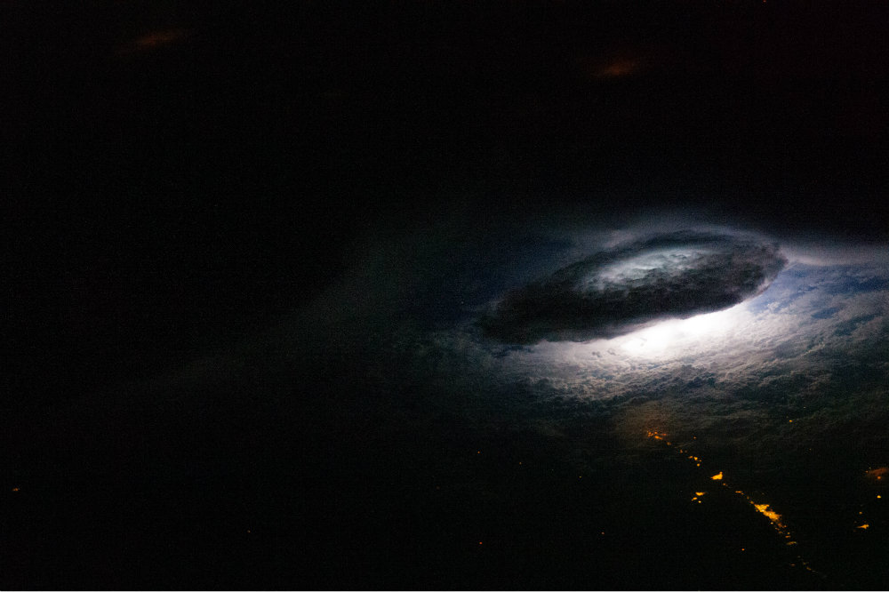 Lightning on Earth viewed from the International Space Station. (NASA)