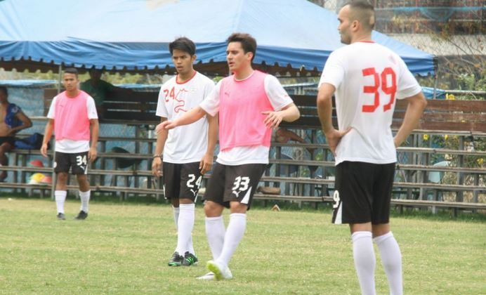 The Philippines national soccer team in a recent practice. (Azkals Football Team)