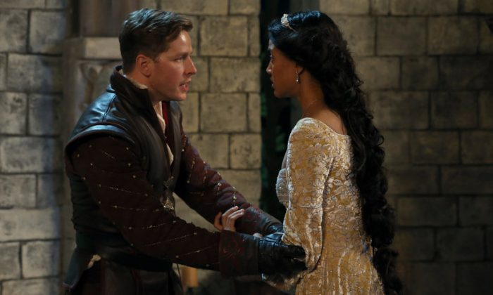 Prince Charming stumbles upon Rapunzel, who is trapped inside a tower, and must help her confront her fears in order for her to be free. (Jack Rowand/ABC)