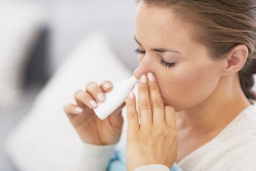 Use a saline spray for your nose. (Shutterstock.com)